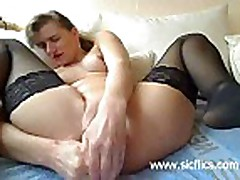 14 candles stuffed in amateur whores loose cunt