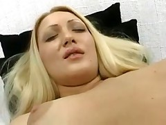 Playing with a shaved pussy