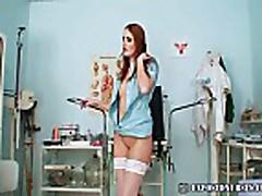 Nasty nurse Denisa gyno pussy speculum masturbation at