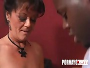 Hot Granny Slut Fucks A Big Black Cock